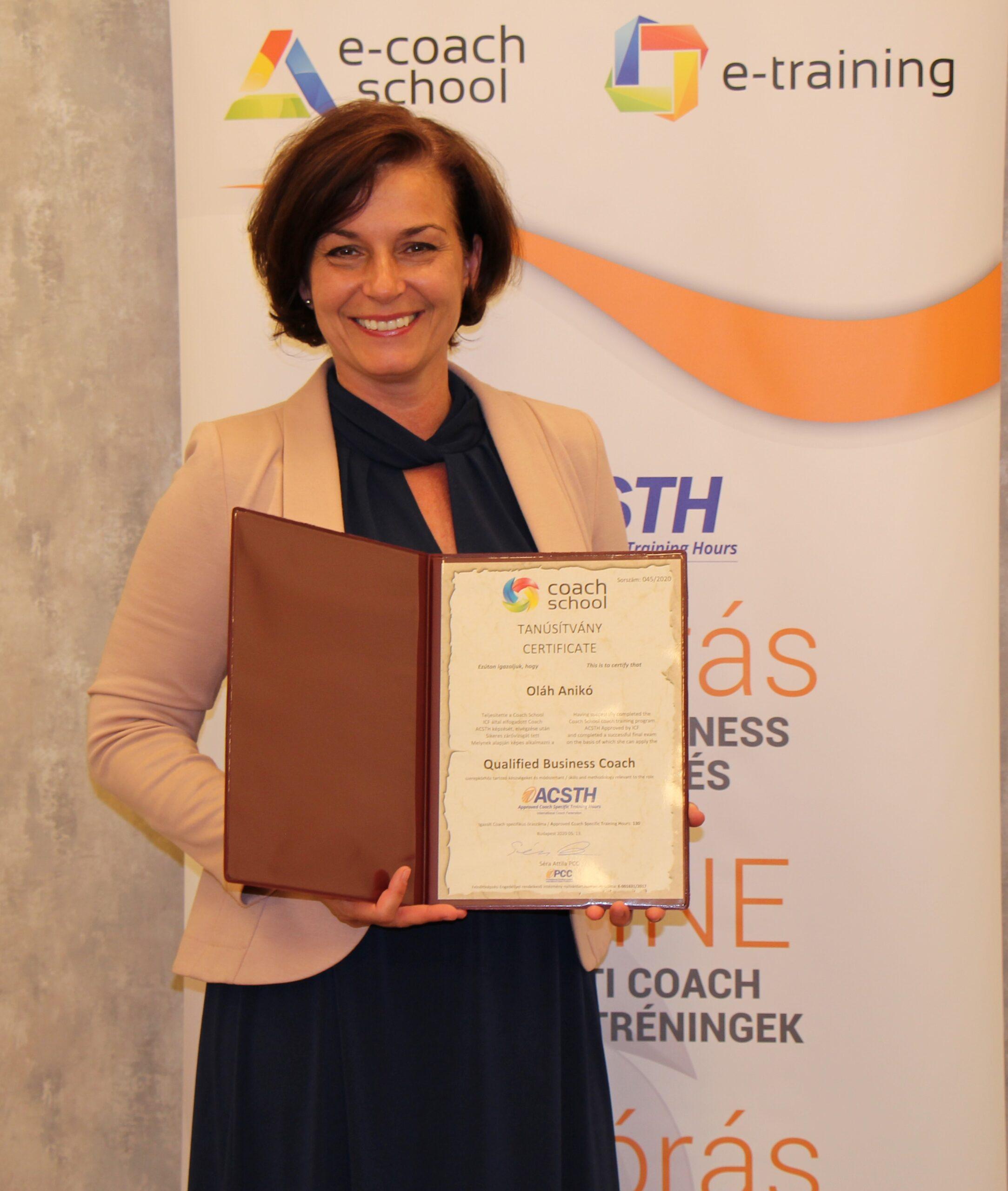 Oláh Anikó ICF akkreditáció